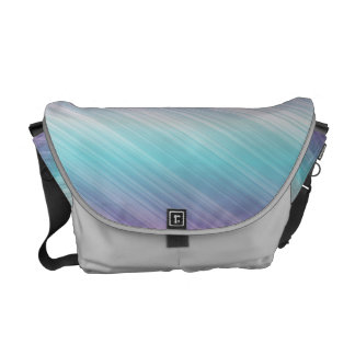 Chic colourful stripe courier bags