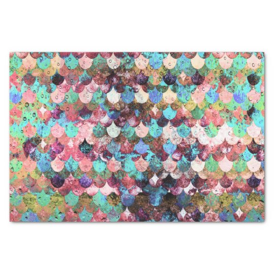 Chic Colourful Water Mermaid Fish Scales Tissue Paper