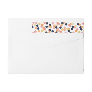 Chic Confetti Shower Wraparound Address Labels Wraparound Return Address Label