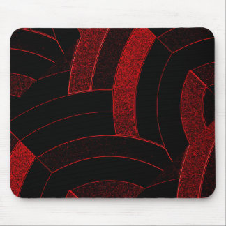 chic contemporary stylish black/red chevron mouse mat