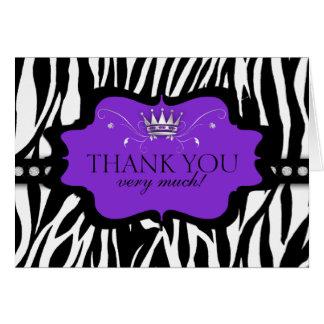 Chic Contemporary Zebra Thank You Card