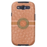 Chic Coral Ostrich Leather Look Monogram