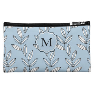 CHIC COSMETIC BAG _GIRLY 21 BLUE FLORAL/VINES