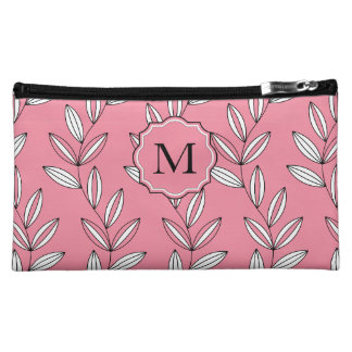 CHIC COSMETIC BAG_GIRLY 27 PINK FLORAL/VINES COSMETIC BAG