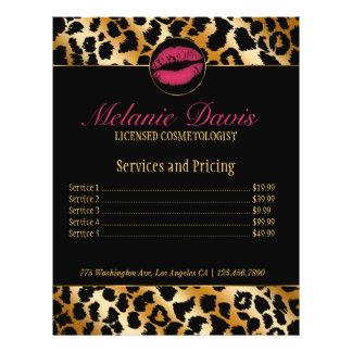Chic Cosmetology Makeup Artist Flyer