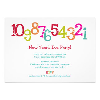 Chic Countdown New Year s Eve Party Invitation Personalized Invites