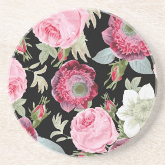 Chic Country Signature Black Floral Coaster