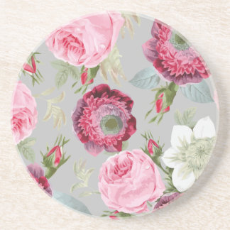 Chic Country Signature Grey Floral Coaster