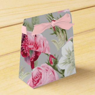 Chic Country Signature Grey Floral Favour Box