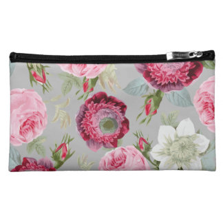 Chic Country Signature Grey Floral Makeup Bag