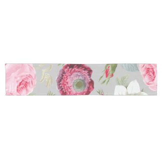 Chic Country Signature Grey Floral Short Table Runner