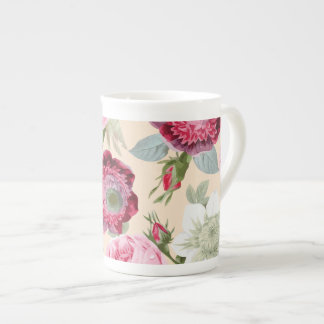 Chic Country Signature Pink Rose Floral Tea Cup