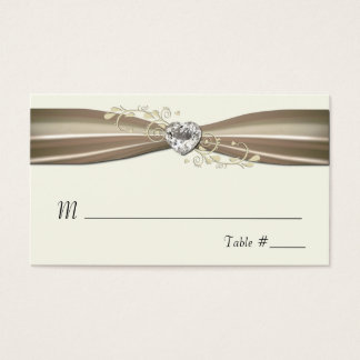 Chic Cream Formal Place Cards