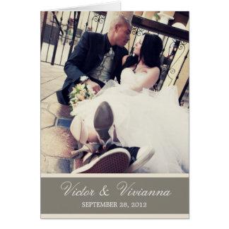 CHIC CREAM GRATITUDE | FOLDED WEDDING THANK YOU GREETING CARD