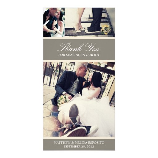 CHIC CREAM GRATITUDE | WEDDING THANK YOU CARD PERSONALIZED PHOTO CARD