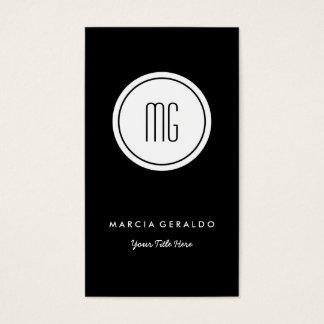 Chic Custom Color Monogram Logo Business Card