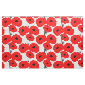 CHIC CUSTOM FABRIC_MOD 01 RED & BLACK POPPIES FABRIC