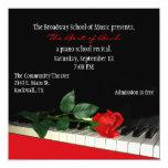 Chic Custom Piano Recital Invitation 13 Cm X 13 Cm Square Invitation Card