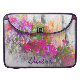 Chic Custom Pretty Floral Watercolor Modern Sleeve For MacBook Pro