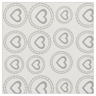 Chic Cute Silver Hearts Pattern Fabric