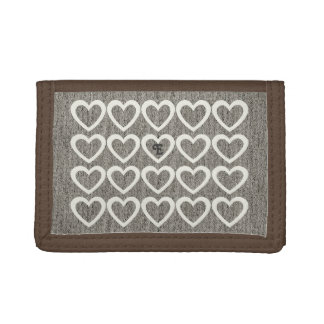 Chic Cute Sweet Heart Pattern Monogrammed  Wallet