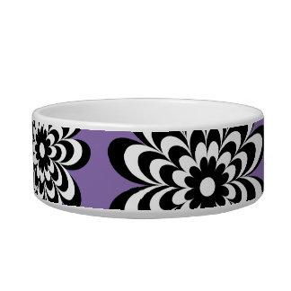 Chic Daisy Cat Bowl - Purple