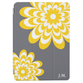Chic Daisy iPad Air Cover - Yellow/Gray