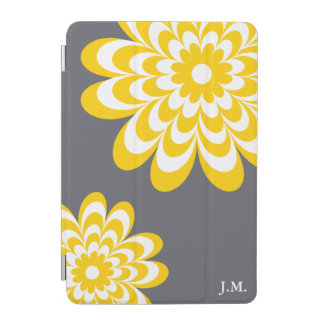 Chic Daisy iPad Mini Cover - Yellow/Gray