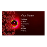 CHIC DAMASK GEM  MONOGRAM red burgundy green Pack Of Standard Business Cards