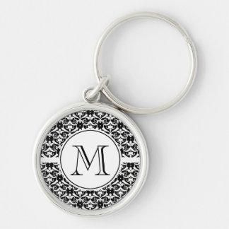 Chic Damask Key Ring