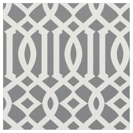 Chic Dark Grey and White Trellis Lattice Pattern