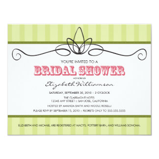 Chic Deco Bridal Shower Invitation (lime green)