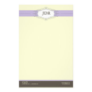 Chic Deco Lilac Customized Stationery