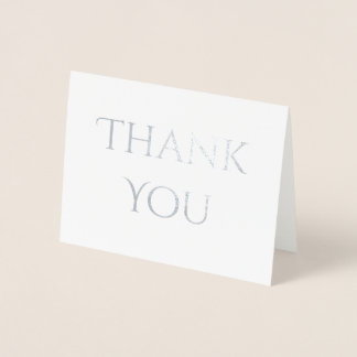 Chic Decorative Font Thank You Foil Card
