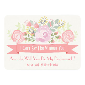 Chic delicate romantic floral card