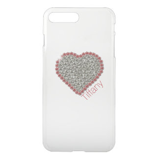 Chic Diamond Heart Custom Clear iPhone7 Plus Case