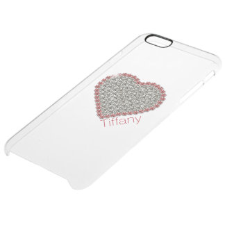 Chic Diamond Heart Custom Clear iPhone 6 Plus Case