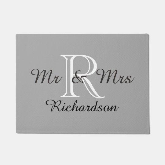 """CHIC DOOR MAT_""""Mr & Mrs""""_NAME/MONOGRAM Doormat"""