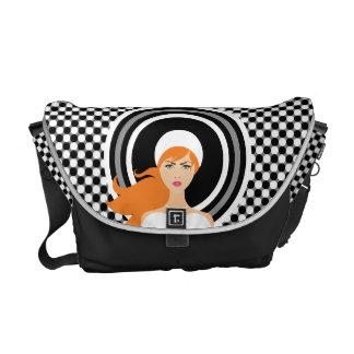 Chic Elegance Polka Dot Monogram Messenger Bag