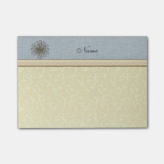 Chic elegant dandelion personalized damask post-it notes