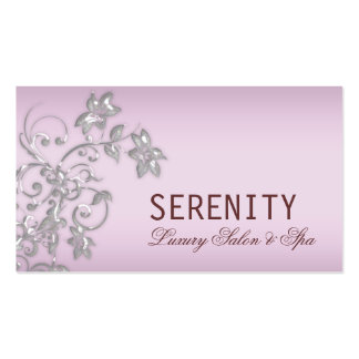 Chic Elegant Floral Swirls Spa Card Pack Of Standard Business Cards