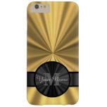 Chic elegant gold personalised monogram barely there iPhone 6 plus case
