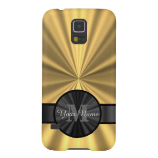 Chic elegant gold personalized monogram galaxy s5 case