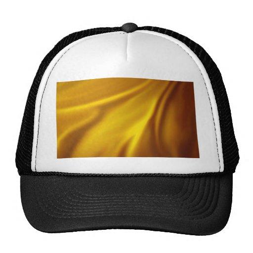 chic elegant golden silk textile customize healing trucker hat