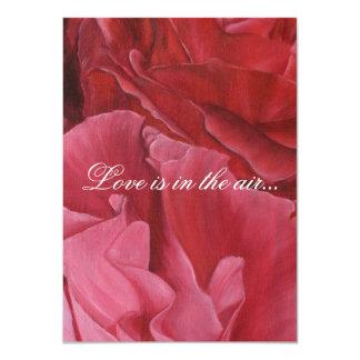 Chic elegant red roses wedding invites