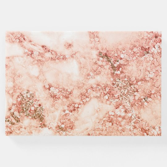 Chic Elegant Rose Gold Ombre Glitter Marble Guest