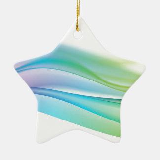 chic elegant swirl of color chakra energy pattern christmas tree ornament