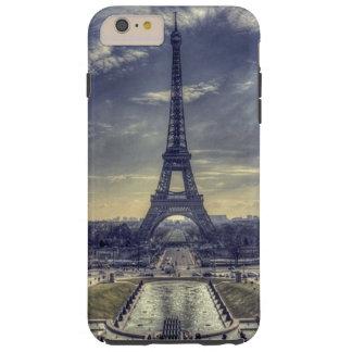 Chic Elegant Vintage Eiffel Tower Paris France Tough iPhone 6 Plus Case