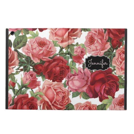 Chic Elegant Vintage Pink, Red, roses floral name