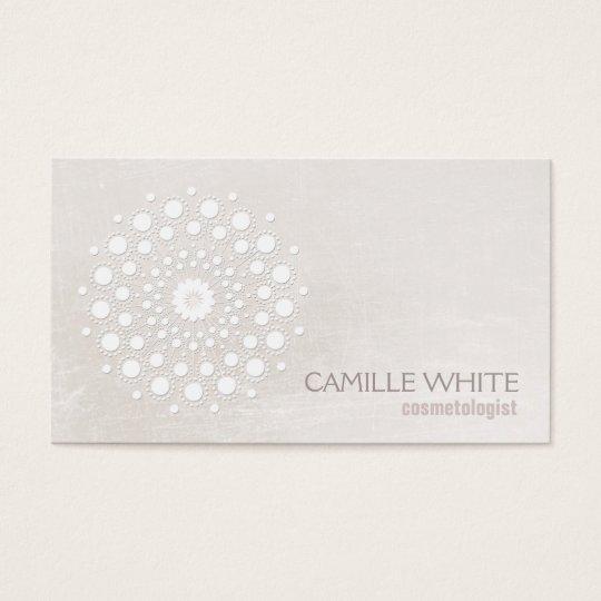 Chic Elegant White Circle Logo White Cosmetologist Business